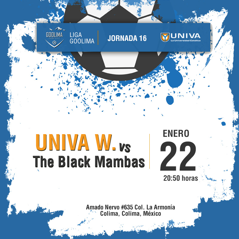 Jornada 16: UNIVA vs The Black Mambas