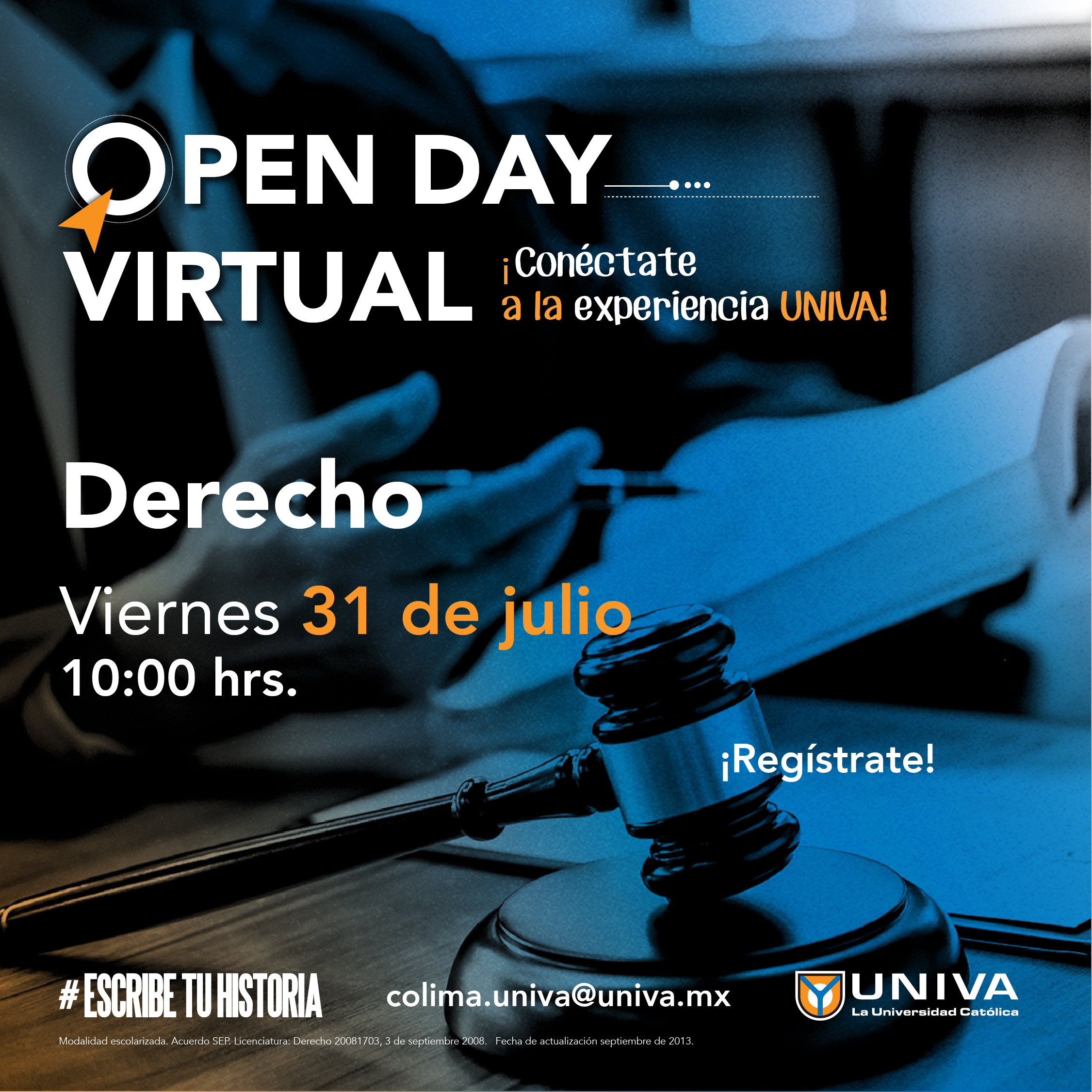 Open Day Virtual: Licenciatura en Derecho