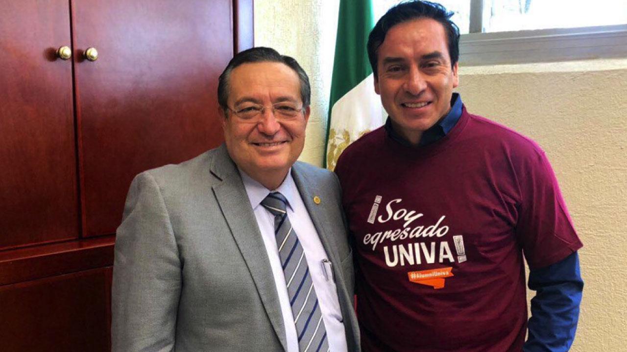 Reunión entre Rector de la UNIVA y el Lic. Édgar Muñoz, Comunicador del Año 2018