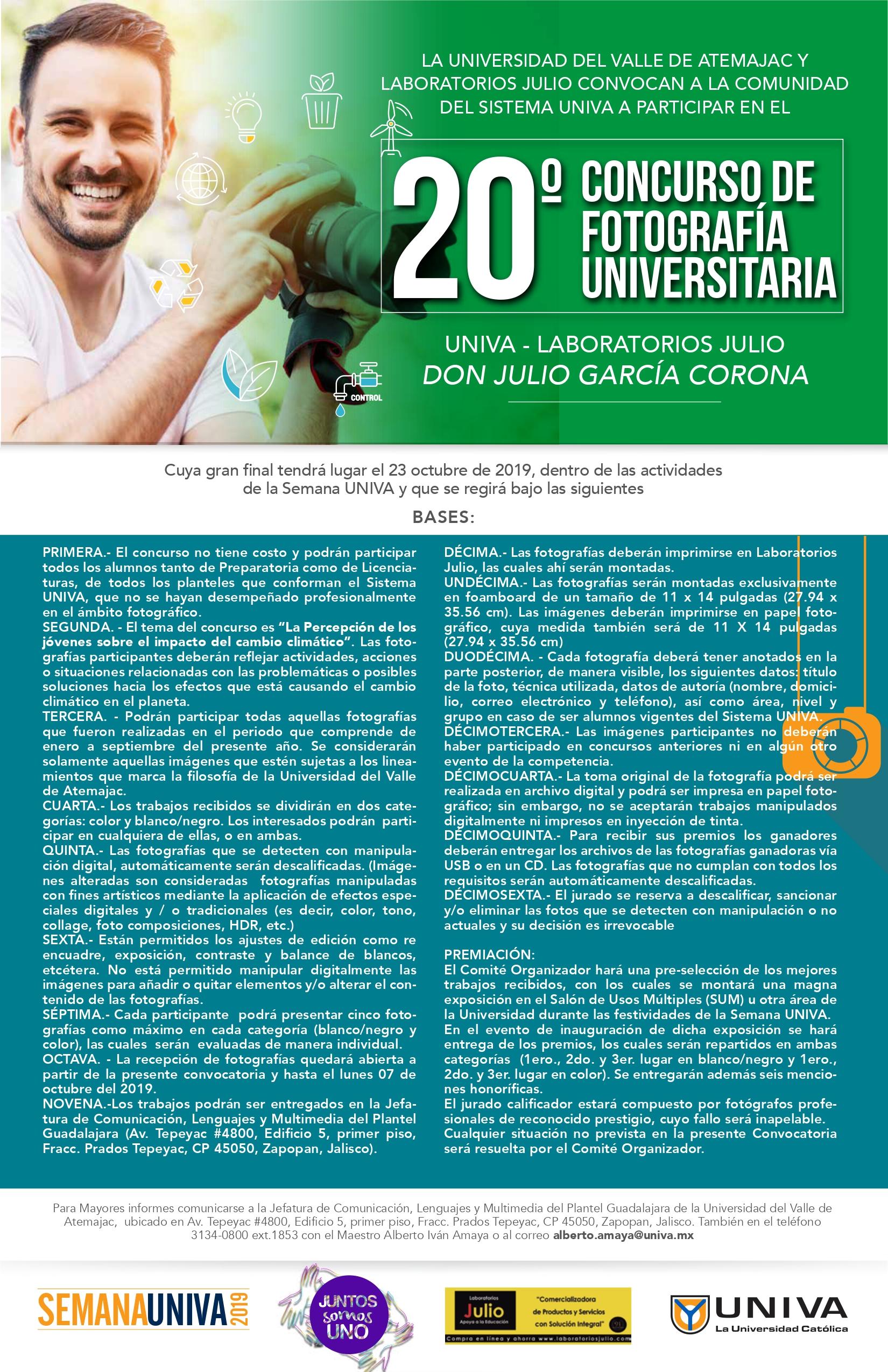 20º Concurso de Fotografía Universitaria Don Julio García Corona