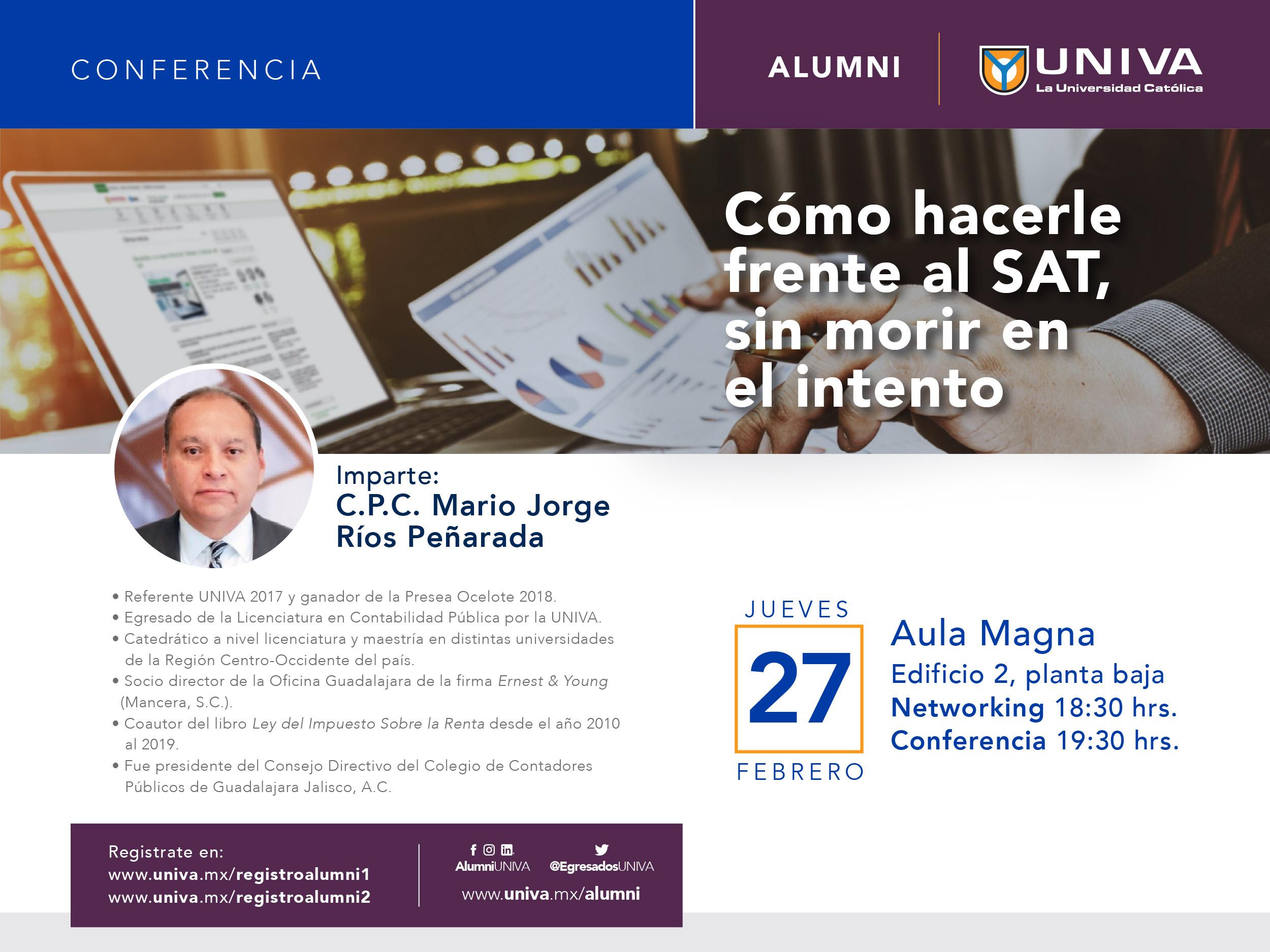 Conferencia Alumni: Como hacer frente al SAT, sin morir en el intento