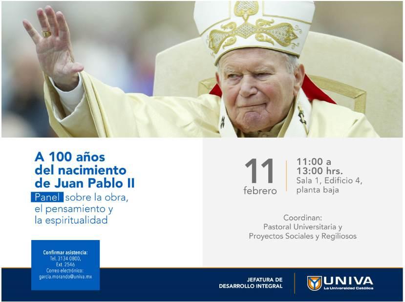 Panel sobre Juan Pablo II, a cien años de su nacimiento