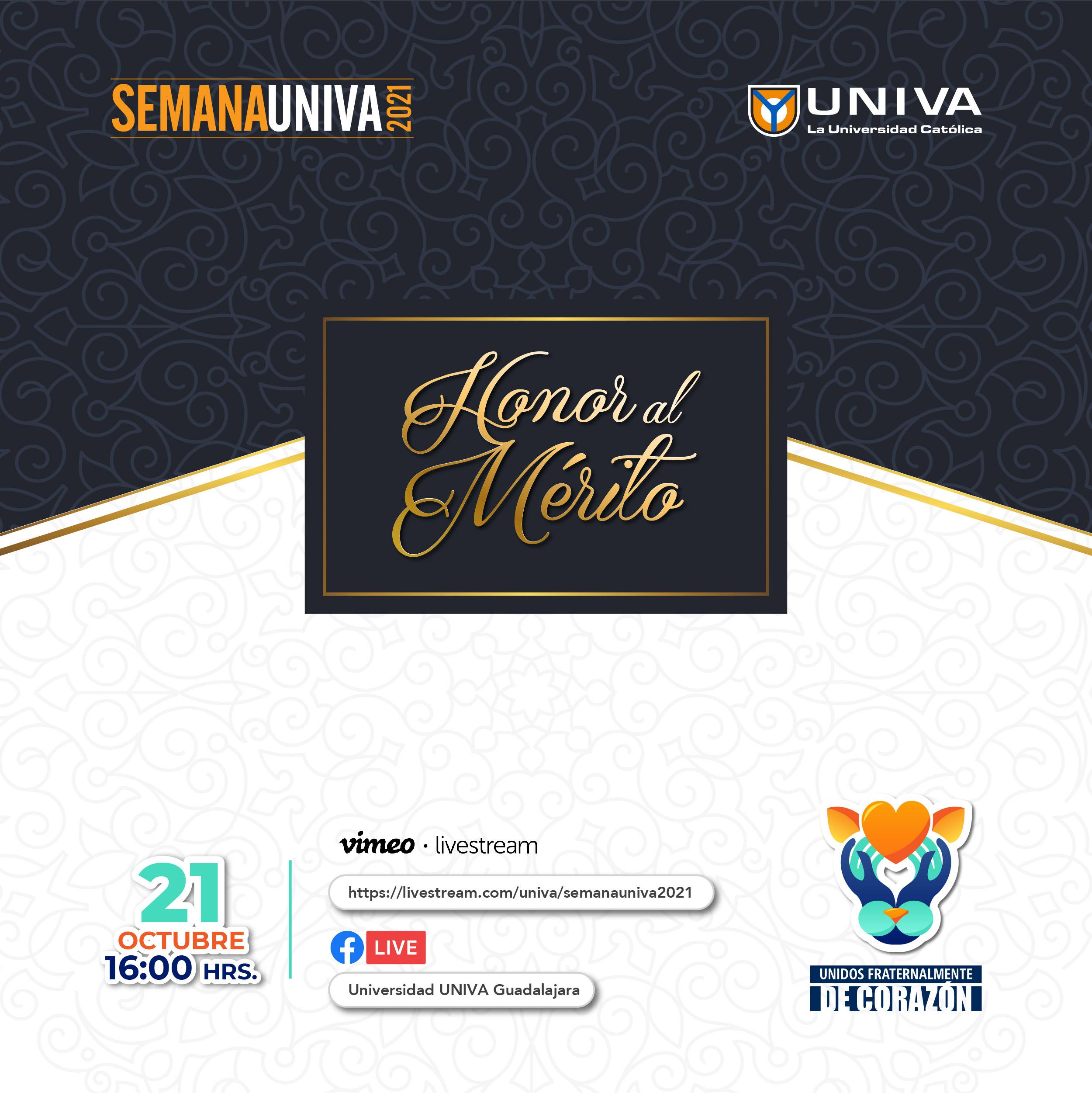 Semana UNIVA 2021: Honor al Mérito
