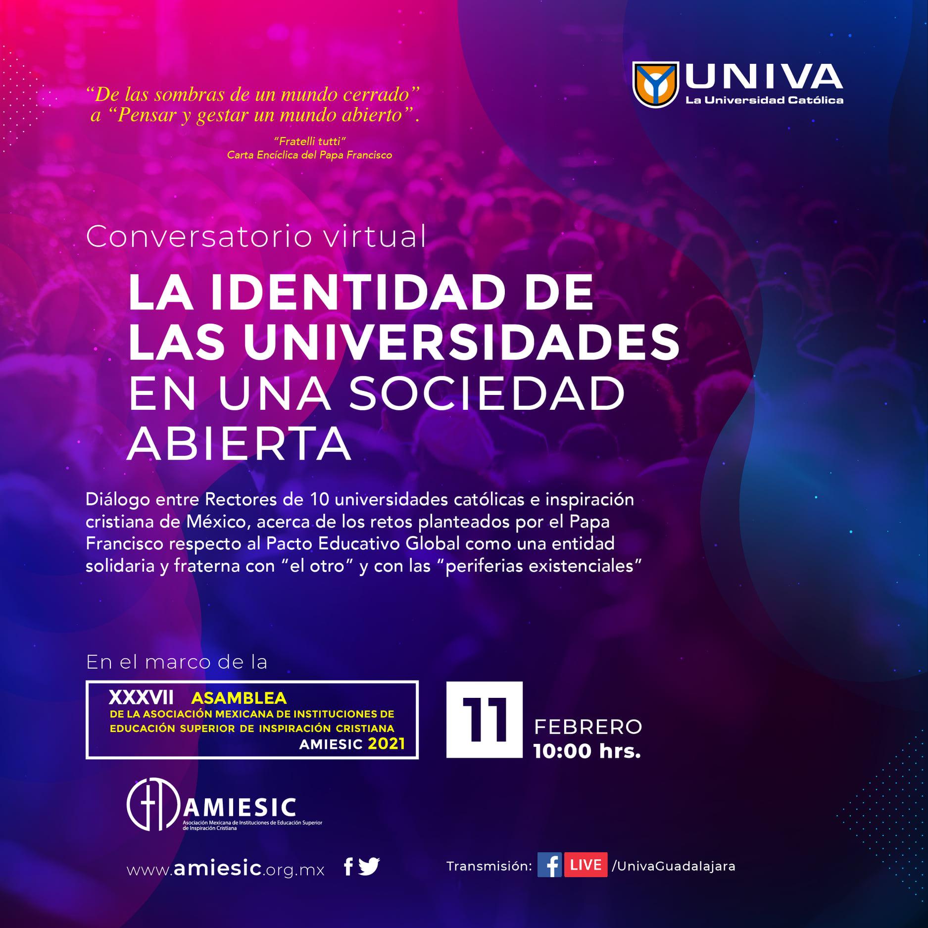 Conversatorio: La identidad de las universidades en una sociedad abierta