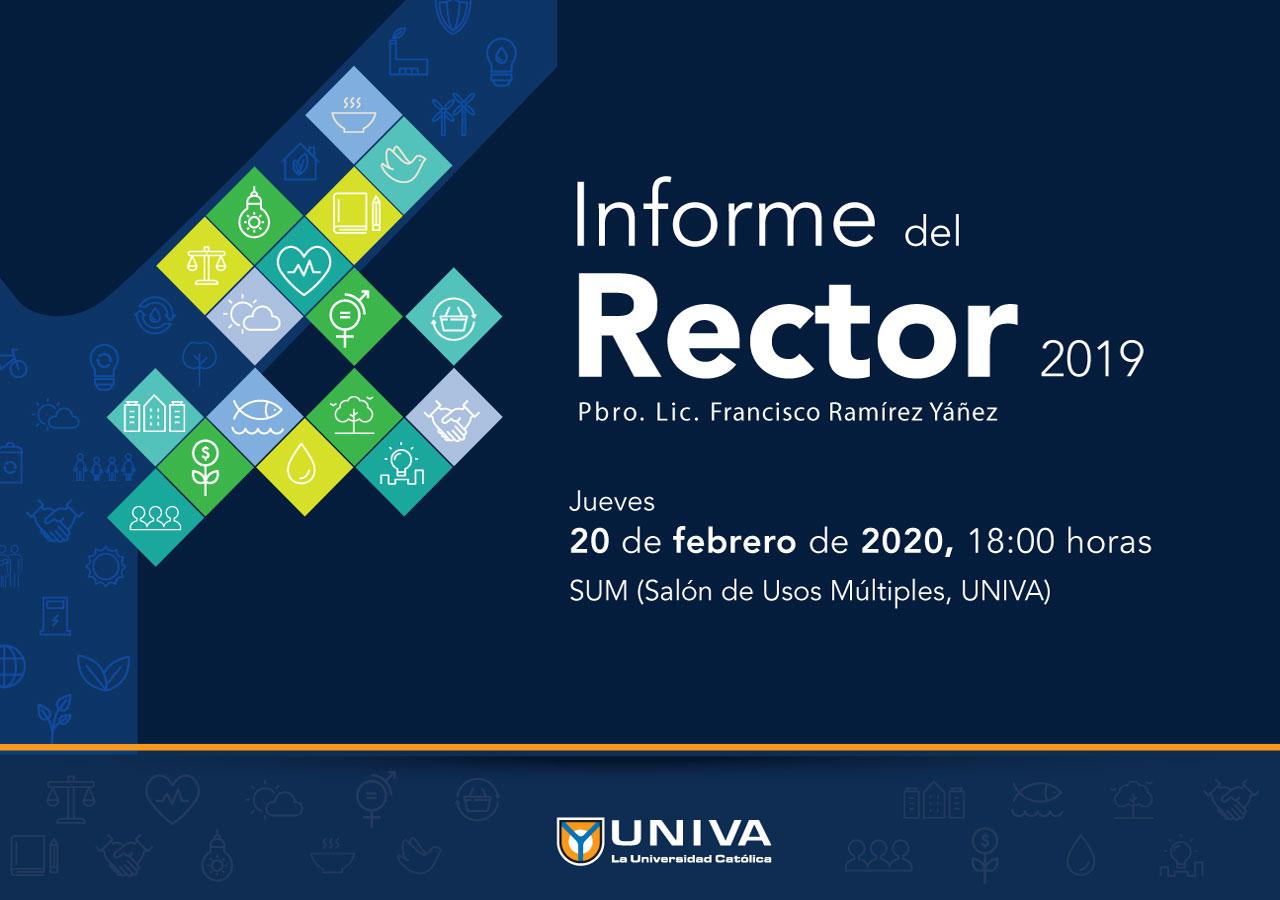 Informe del Rector 2019, Pbro. Lic. Francisco Ramírez Yáñez