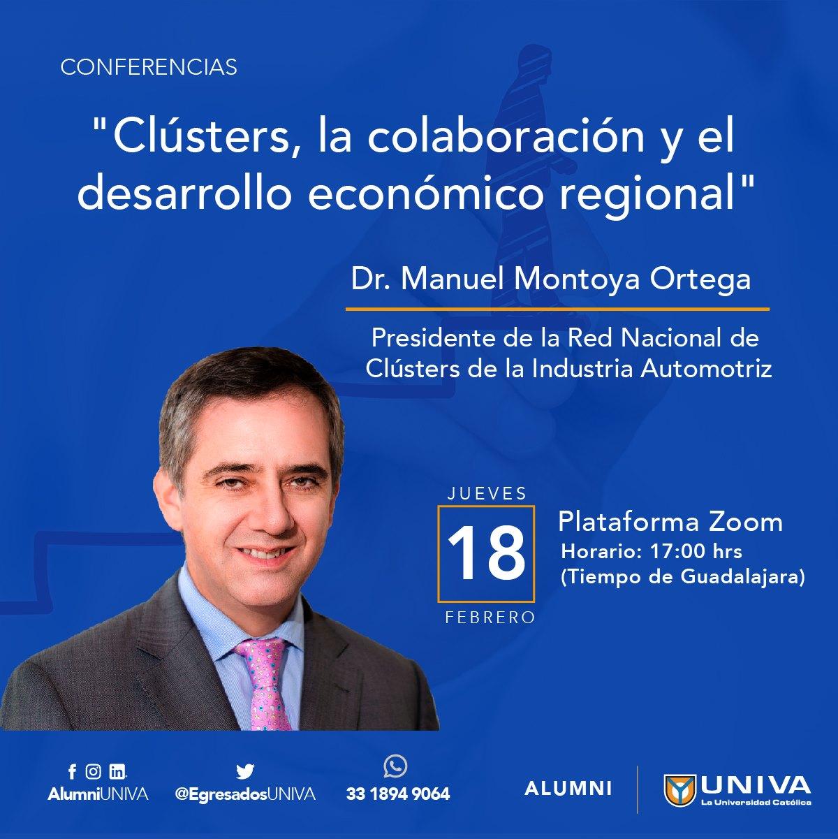 Conferencia: Clústers, la colaboración y el desarrollo económico regional